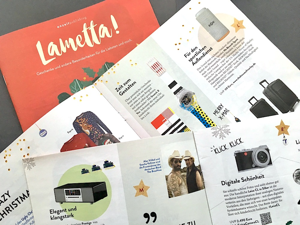 Lametta, Advertorials